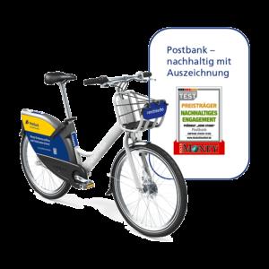 Postbank + nextbike: 30 Freiminuten pro Fahrt
